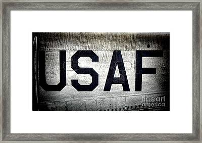 Usaf Framed Print by Olivier Le Queinec