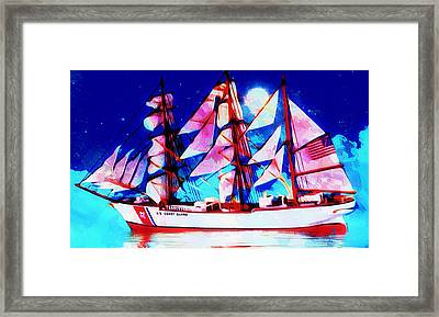 Uscgc Eagle Tall Ship Framed Print by Scott Wallace