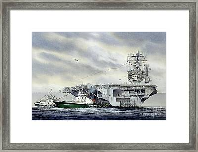Uss Abraham Lincoln Framed Print by James Williamson