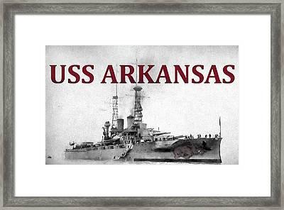 Uss Arkansas Framed Print by JC Findley