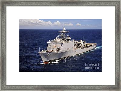 Uss Comstock Transits The Indian Ocean Framed Print by Stocktrek Images