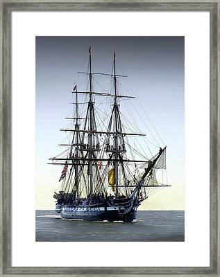 Uss Constitution Framed Print by Fred LeBlanc