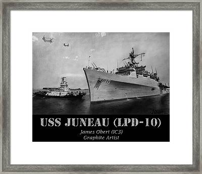 Uss Juneau Lpd 10 Framed Print by James Obert