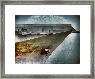 Uss Lexington - Imagine Framed Print by Wendy J St Christopher
