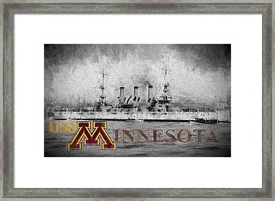 Uss Minnesota Framed Print by JC Findley