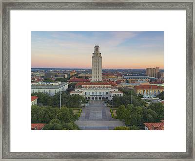Ut Tower Aerial View On A January Morning 1 Framed Print by Rob Greebon