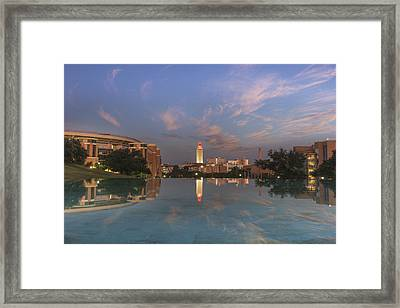 Ut Tower Reflection 1 Framed Print by Rob Greebon