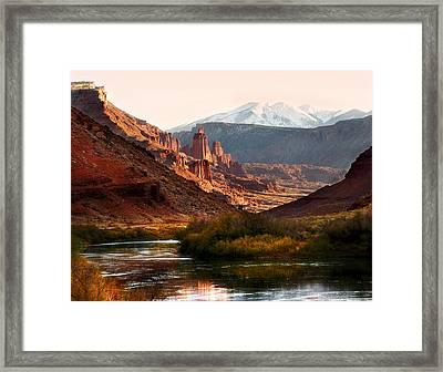 Utah Colorado River Framed Print by Marilyn Hunt