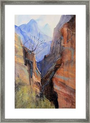 Utah Red Rocks Framed Print by Sandra Strohschein