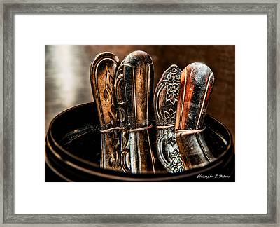 Utensils Reflected Framed Print by Christopher Holmes