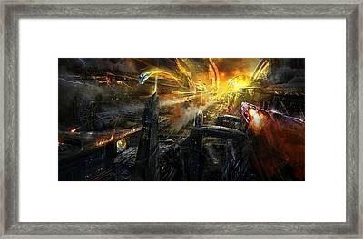 Utherworlds Battlestar Framed Print by Philip Straub