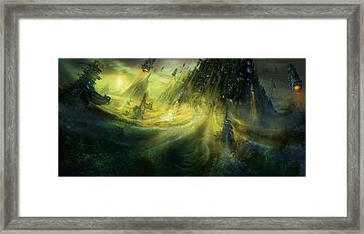 Utherworlds Monolith Framed Print by Philip Straub