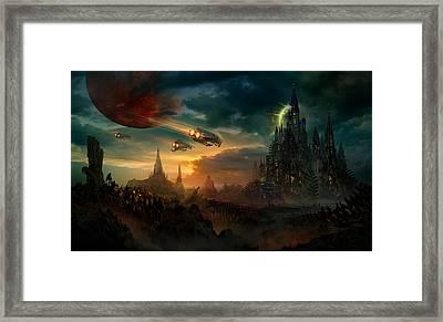 Utherworlds Sosheskaz Falls Framed Print by Philip Straub