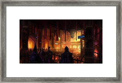 Utherworlds The Gathering Framed Print by Philip Straub