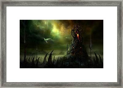 Utherworlds Where Fears Roam Framed Print by Philip Straub