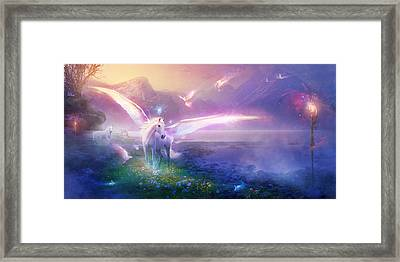 Utherworlds Winter Dawn Framed Print by Philip Straub