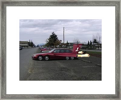 V  Jet Framed Print by Ken Day