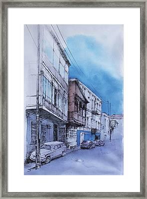 V. Orbeliani Str. Framed Print by Anastasia Logvinenko