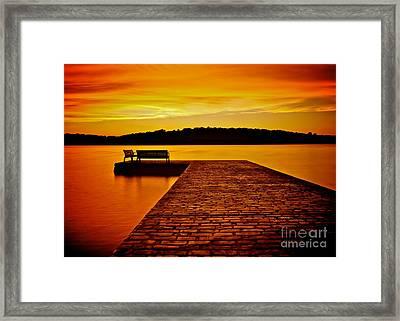 Vacant Sunset Framed Print by Mark Miller