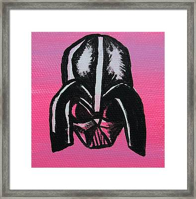 Vader In Pink Framed Print by Jera Sky