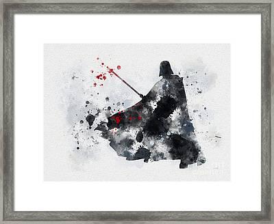 Vader Framed Print by Rebecca Jenkins