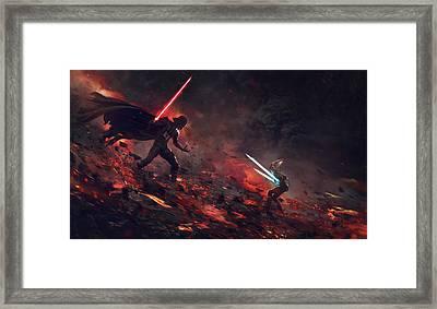 Vader Vs Ahsoka Framed Print by Guillem H Pongiluppi
