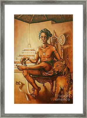 Vaduthala Nair - An Exponent In Kalari Framed Print by Anup Roy