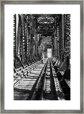Vagrant On Bridge Framed Print by Don Wolf