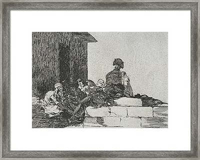 Vain Laments From The Series The Disasters Of War Framed Print by Francisco Goya