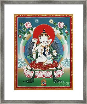 Vajrasattva Yuganadha  Framed Print by Sergey Noskov
