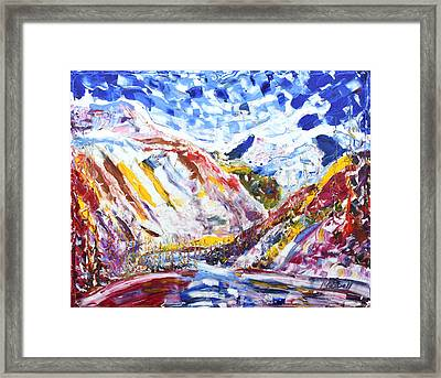 Val D'isere La Daille Framed Print by Pete Caswell