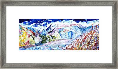 Val D'isere The Face Framed Print by Pete Caswell