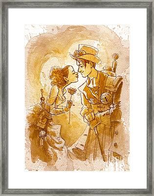 Valentine Framed Print by Brian Kesinger