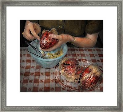 Valentines - Mending A Broken Heart 1942 Framed Print by Mike Savad