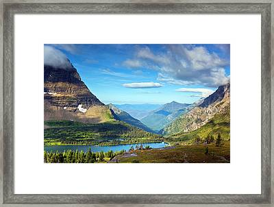 Valley Beyond Framed Print by Rebecca L. Latson