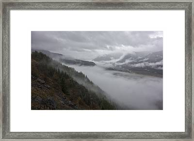 Valley Fog Framed Print by Loree Johnson
