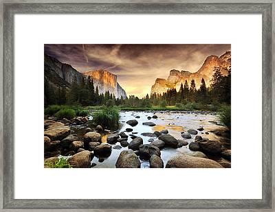 Valley Of Gods Framed Print by John B. Mueller Photography