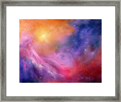 Valley Of Light Framed Print by Sally Seago