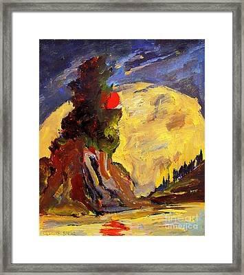 Valley Of The Red Sun Framed Print by Charlie Spear