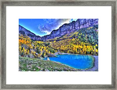 Valley Peak And Falls Framed Print by Scott Mahon