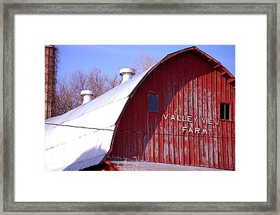 Valley View Framed Print by Jame Hayes