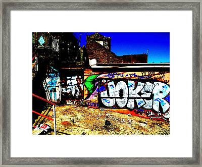 Valparaiso Joker Graffiti Framed Print by Funkpix Photo Hunter