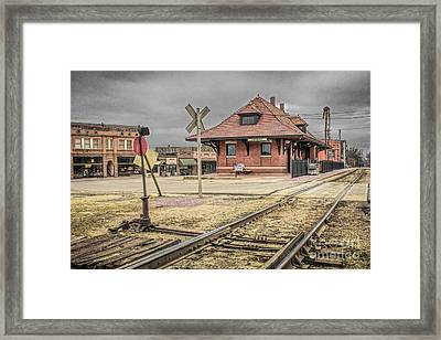 Van Buren Ar Train Depot Framed Print by Jim Raines