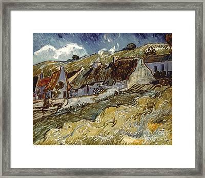 Van Gogh: Cottages, 1890 Framed Print by Granger