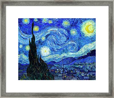 Van Gogh Starry Night Framed Print by Vincent Van Gogh