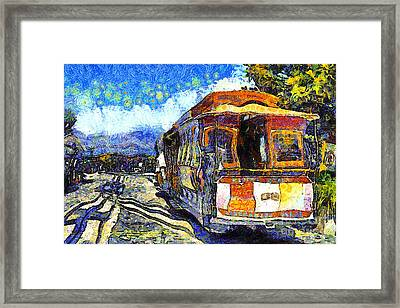 Van Gogh Vacations In San Francisco 7d14099 Framed Print by Wingsdomain Art and Photography