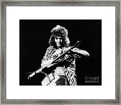 Eddie Van Halen  Framed Print by Chris Walter