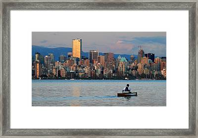 Vancouver Canoe Framed Print by Pierre Leclerc Photography
