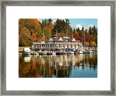 Vancouver Rowing Club In Autumn Framed Print by Connie Handscomb