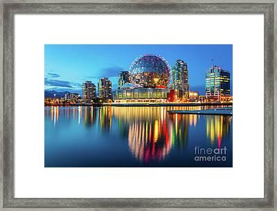 Vancouver Science World Framed Print by Inge Johnsson